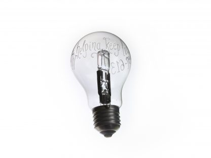 personalised light bulb gift for electrician
