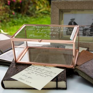 handwriting copied onto glass jewellery box 43 5
