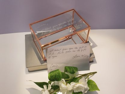 loved ones handwriting engraved on glass trinket box 21