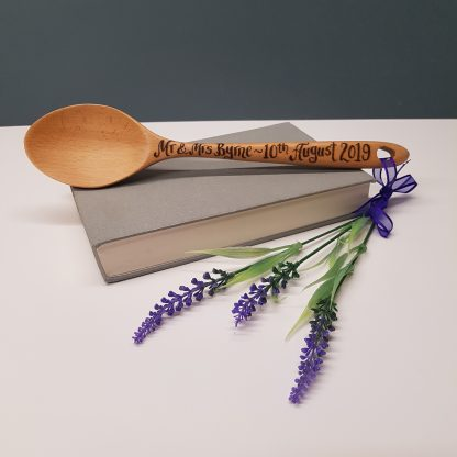 personalised wooden spoon with any message