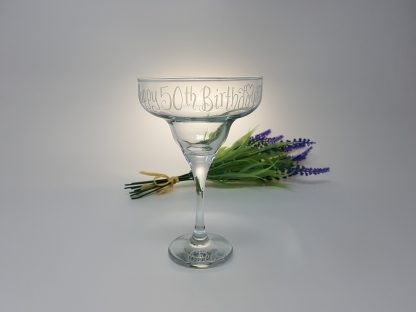50th birthday personalised margarita cocktail glass1