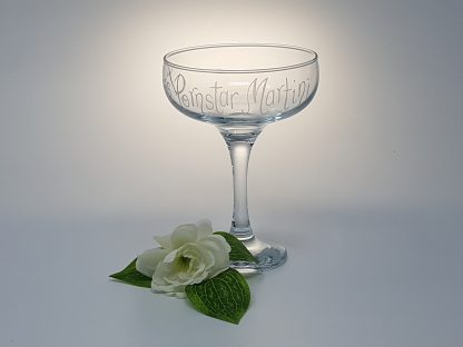 add any name personalised pornstar martini coupe glass prop close up 443