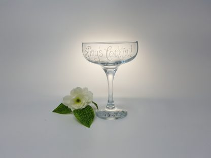 amys cocktail personalised coupe glass