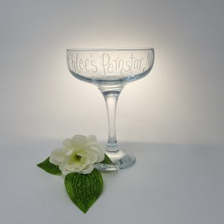 chloes pornstar martini personalised coupe glass