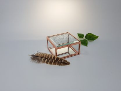 feathers appear when loved ones are near personalised glass box