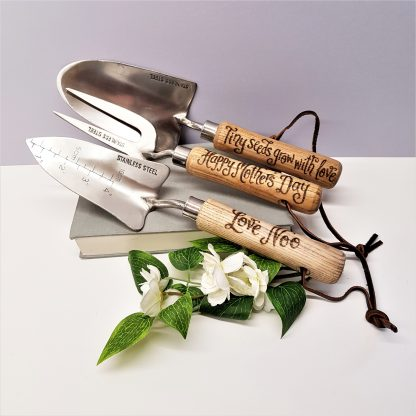 happy mothers day garden tool set personalised