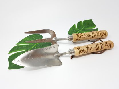 lockdown birthday love liz and ricky personalised planter and trowel set