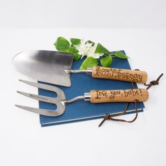 personalised garden tools for 5th anniversary gift prop sq