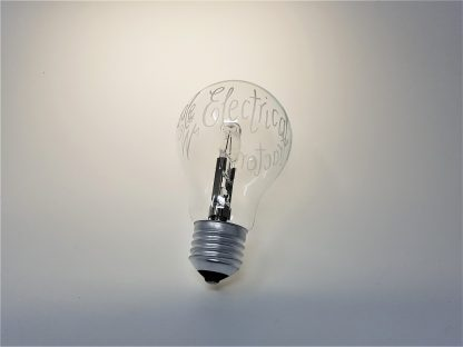 personalised light bulb hand engraved gift for electrician