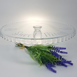 sweet thing cupcake glass personalised cake stand