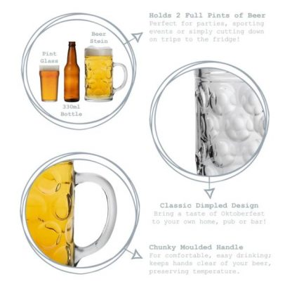 2 pint beer stein personalised hand engraved dad best man glass fathers day