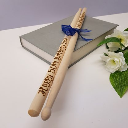50th birthday gift personalised wooden drumsticks4