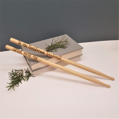 STICK WITH ME 1hand engraved wooden drumsticks