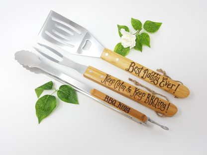 best daddy ever keep calm and keep bbqing bbq king personalised barbecue tool set1