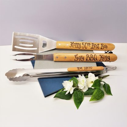 ## birthday personalised barbecue tools for 50th birthday gift