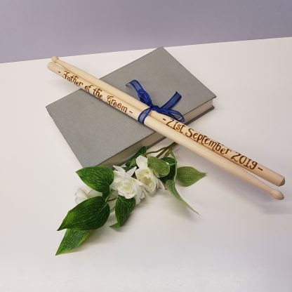 father of the groom personalised wooden drumsticks6