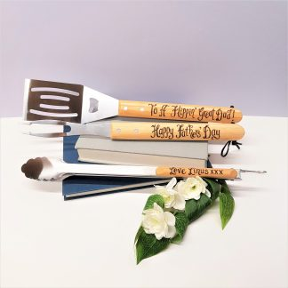 ##fathers day to a flippin great dad personalised barbecue tools
