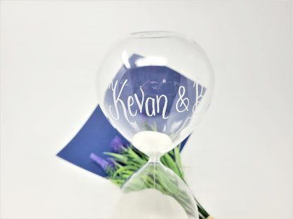 personalised 60 minute hourglass sand timer love forever wedding