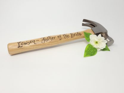 thank you for helping us build our future father of the groom or bride personalised hammer for wedding day4