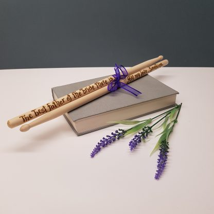 the best father of the bride there is personalised drumsticks