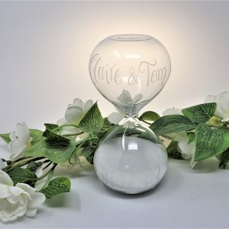 15 minute sand timer wedding gift personalised