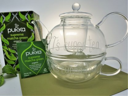 kt's cuppa tea personalised glass teapot and cup1