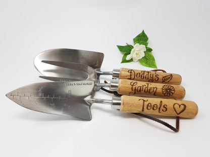 daddys garden tools personalised garden hand tools set for dad