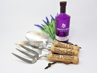 flowers and gin victorias garden personalised garden tools set 3 piece