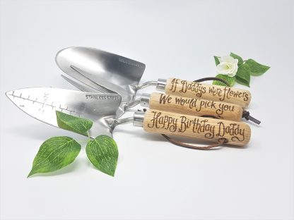 if daddys were flowers we would pick you happy brithday daddy personalised garden tools for dad