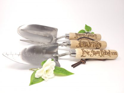 nannys garden happy birthday love from mabel personalised garden tools set2