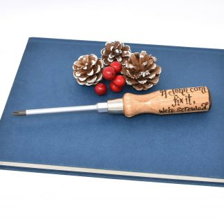 if john cant fix it were screwed personalised screwdriver 43 xmasjpg